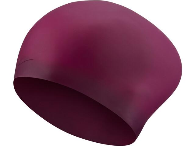 Nike Swim Solid Cuffia In Silicone Per Capelli Lunghi, night maroon
